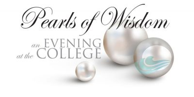 Image is of school's advertisement for the Pearls of Wisdom charity event.